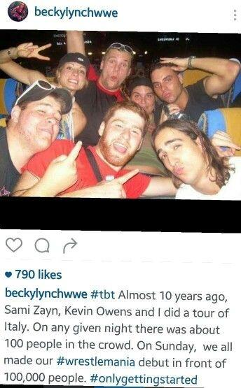 Becky Lynch, Sami Zayn, Kevin Owens Throwback