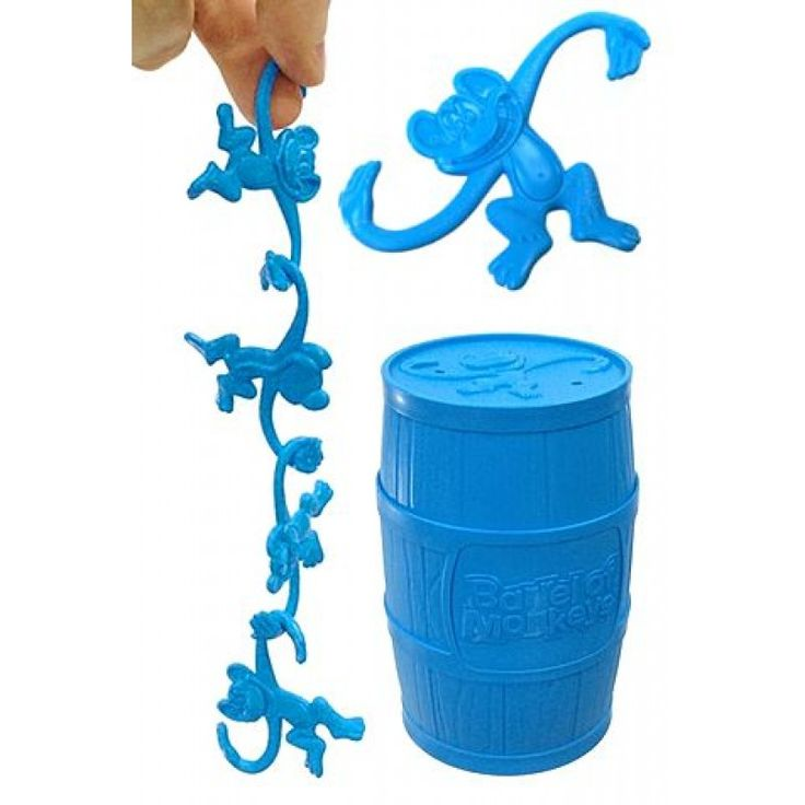 Barrel of Monkeys Bright Blue : The Original Hooking Game : 1965