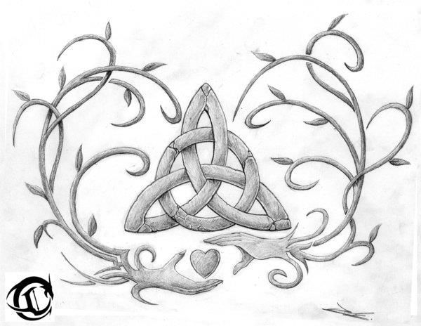 celtic design. love the idea of the hands turning into vines.