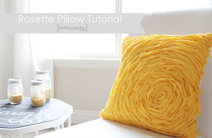 Rosette Pillow Tutorial (maybe in green for the guest room?) PLUS -- instructions on how to DIY your own basic throw pillow cover