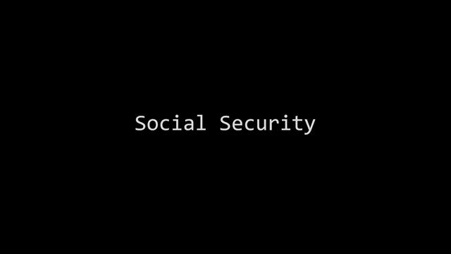 Social Security by Peter Smith. A short film about how a job often provides you with more than just financial benefits.