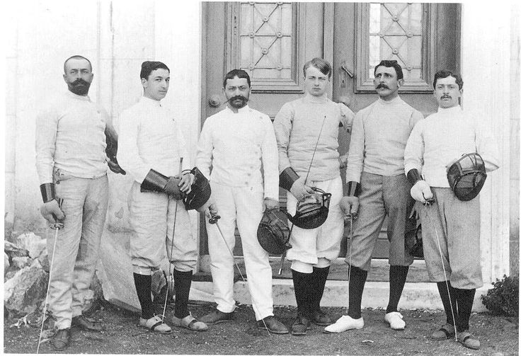 Team France @olympics 1896 in Athens. Follow and like #FIE on Fridays with photography from the first modern Olympic Games towards @rio2016!  #fencing #history #backintime #escrime #olympics #team #athletes #disciplines #sport #ff #follow #friday #fun #l4l #worldwide #archives by fencing_fie