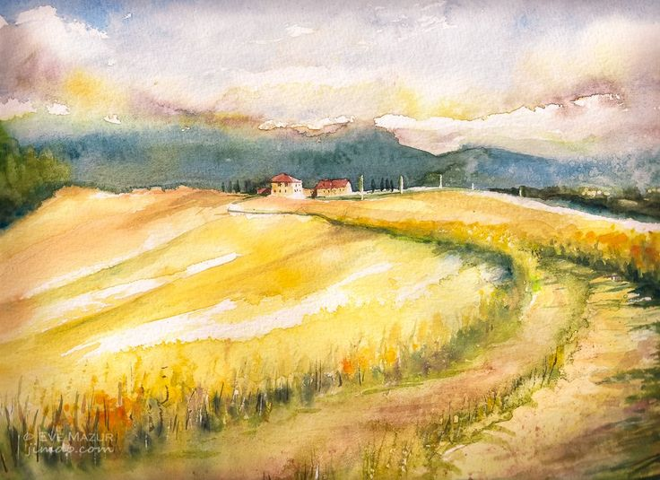 Tuscany landscape 24x32 eve-mazur.jimdo.com