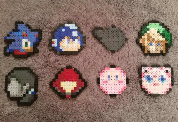 Super Smash Bros. 4  Stock Icon Magnets  by GamingCraftsByAddy