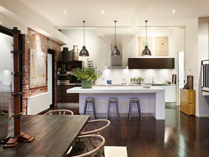 834 best Loft Kitchen Ideas images on Pinterest | Kitchen ideas ...