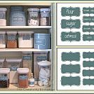 Create an Organized Baking Cabinet with Free Printable Labels.