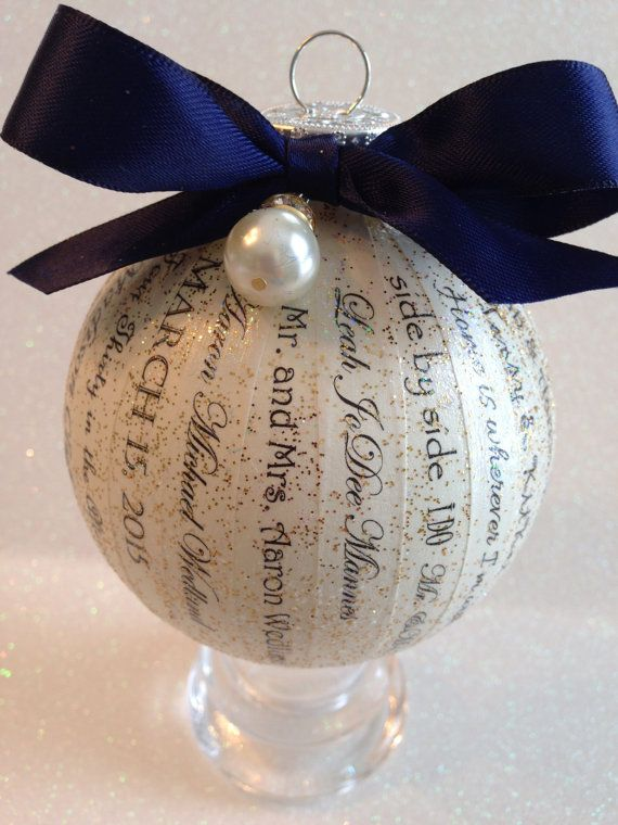 Personalized Wedding Ornament ~ Unique, Elegant and Custom Made ~ Personalized Wedding Keepsake Gift / Wedding Invitation/Wedding Vows