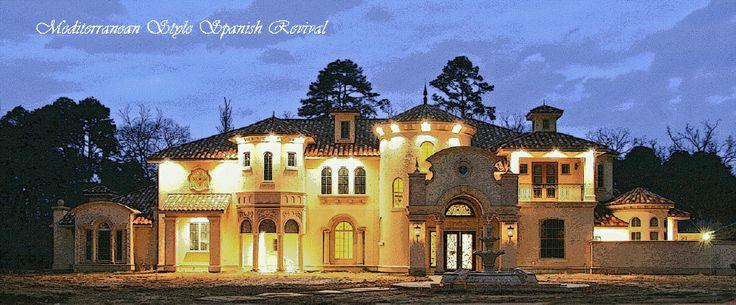 Luxury Home Mansion Castle Design Plan Mediterranean Villa
