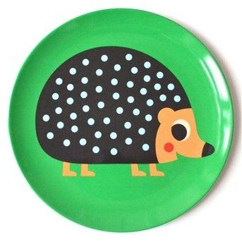 Hedgehogs are loved by everyone - that's why we decided to paint them on plates.