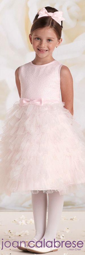 Joan Calabrese for Mon Cheri - Style No. 115329 #flowergirldresses calabresegirl.com