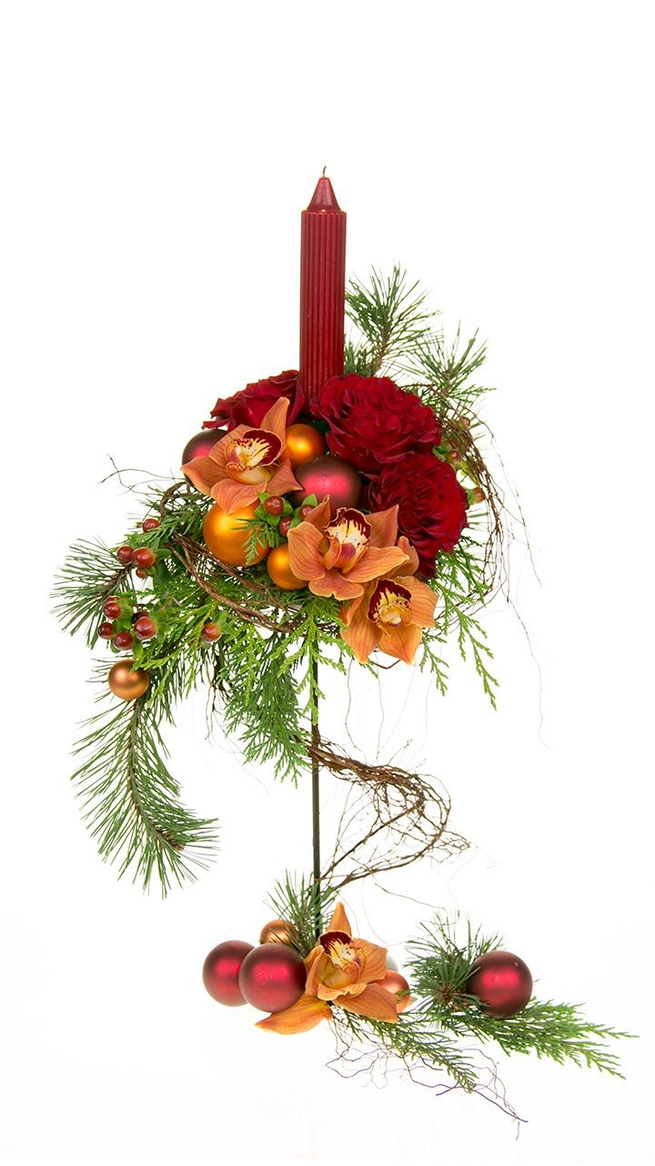 Holiday arrangements wholesale bulk flowers fiftyflowers - Learn Tips For Securely Anchoring Candles Into Flower Arrangements For Holidays Wedding Receptions And Other