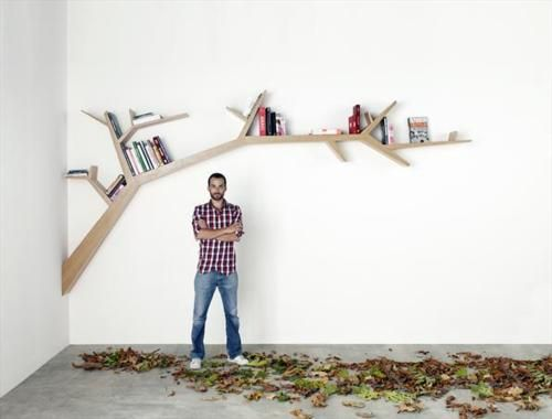 Tree branch book shelf! I'm in LOVE