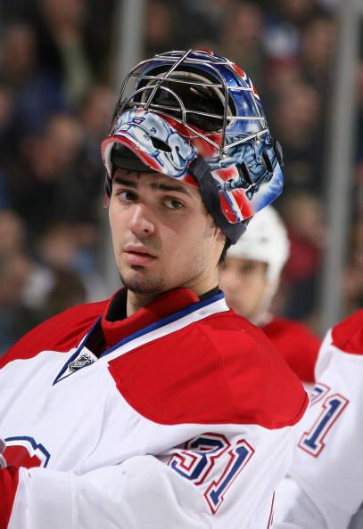 Carey Price of the Montreal Canadiens tends goal against the Buffalo Sabres on November 23, 2007