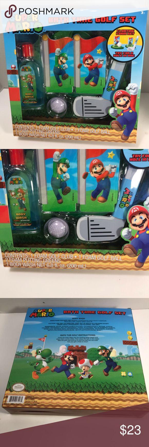 Super Mario Kids Fun Bath Time Golf Set New NWT in 2020
