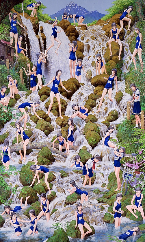 会田誠「滝の絵」