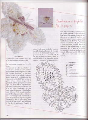 Bomboniera: Projects, Charts Diagrams, Wedding Favors, Sachets Charts, Farfal Uncinetto, Farfalla Bomboniera, Crochet Butterflies, Crochet Patterns, Farfalle Uncinetto