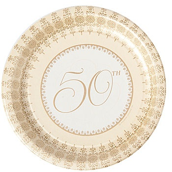 50th Elegance party supplies for 50th wedding anniversary celebration  sc 1 st  Pinterest & 242 best 50th wedding anniversary ideas: golden hearts u0026 more images ...