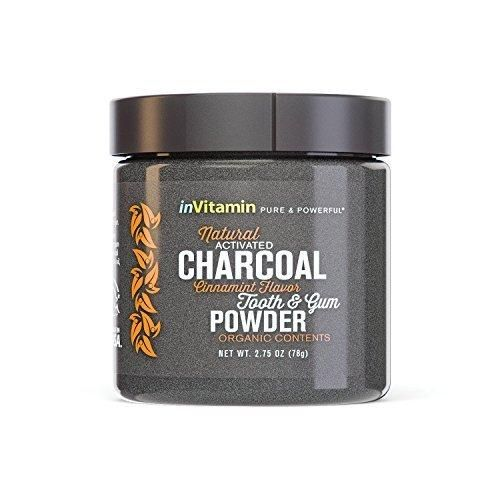 Natural Whitening Tooth & Gum Powder with Activated Charcoal (2.75 oz Cinnamint)