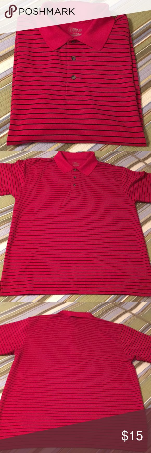 PGA Tour golf shirt Red and black golf shirt. X Large PGA Tour Shirts