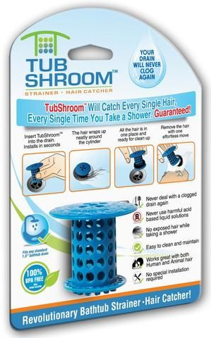 TubShroom™ (Blue) The Hair Catcher That Prevents Clogged Drains - TubShroom - 1