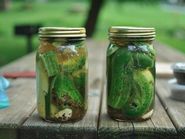 Garlic Dill Pickles                                        this is ALMOST the recipe i use that everyone likes so much... i use white vinegar instead of apple cider, and no pepercorns or chili, but that's what's fun about pickles once you have the base brine, play with your flavors...: Canning Recipes, Dill Refrigerators, Refrigerator Pickles, Refrig Pickled, Refrigerators Pickled, Pickled Recipes, Garlic Dill Pickles, Garlic Dill Pickled, Serious Eating