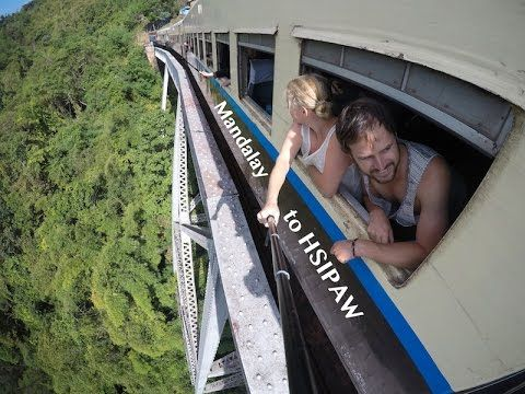World's Most Scenic Train Ride | Hsipaw | Myanmar | The Married Wanderers | GoPro Travel Vlog