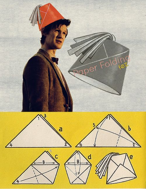 How to fold a paper fez