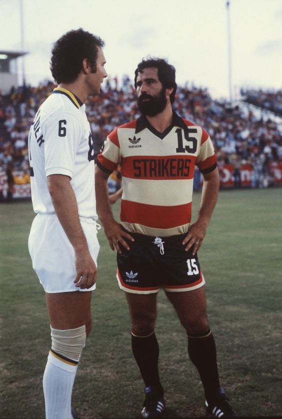 Franz Beckenbauer (New York Cosmos) & Gerd Müller (Fort Lauderdale Strikers)