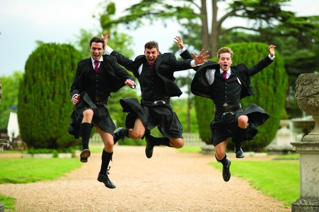 They're jumping for joy because they just received their Crystal Imagery groomsmen glasses! ;) http://www.crystalimagery.com #groomsmen #bestman #wedding