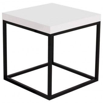 Prairie 20X20 Marble End Table   White