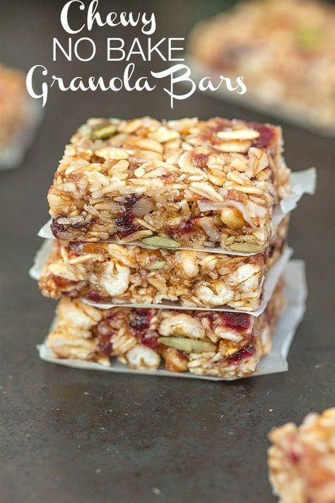 Chewy Granola Bars -- This bar has oats, raisins, almonds, dates, dried berries of choice, sesame seeds, salt & cinnamon
