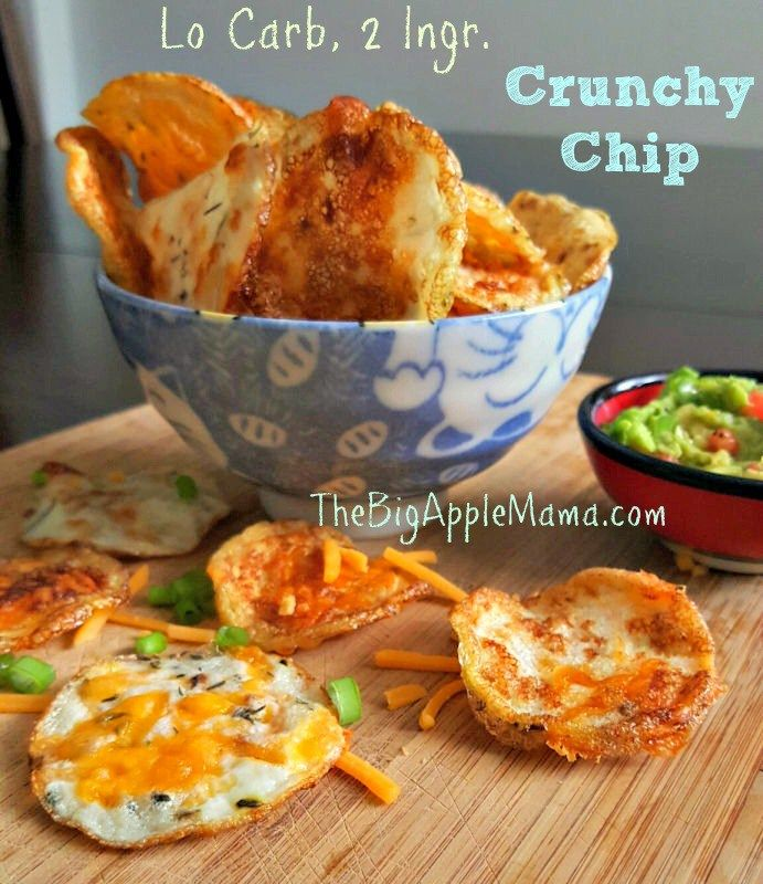Low Carb Cloud Bread Chips with only 2 Ingredients