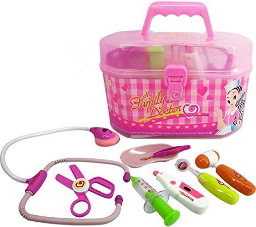 oopsfly Simulation Medicine Box Pretend Play Doctor Set Medical Kits Toys for Child Pink >>> Check out the image by visiting the link.