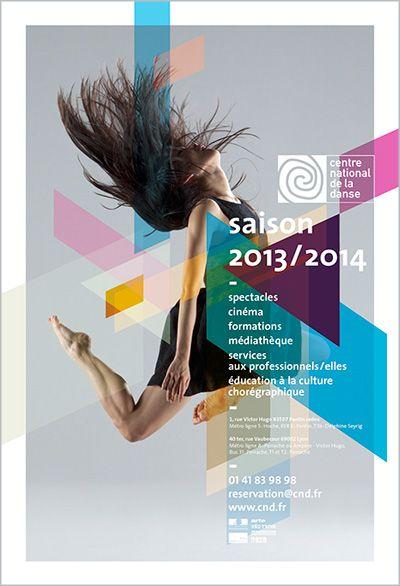 Identité Graphique du Centre National de la danse (http://www.cnd.fr) par Hartland Villa & Aude Perrier. Photographie Enrico Bartolucci.