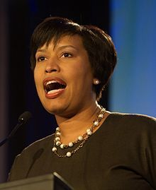 Muriel Bowser is an American politician and a member of the Democratic Party currently serving as the eighth Mayor of the District of Columbia. Prior to her inauguration in January 2015, Bowser served as a member of the Council of the District of Columbia, representing Ward 4.