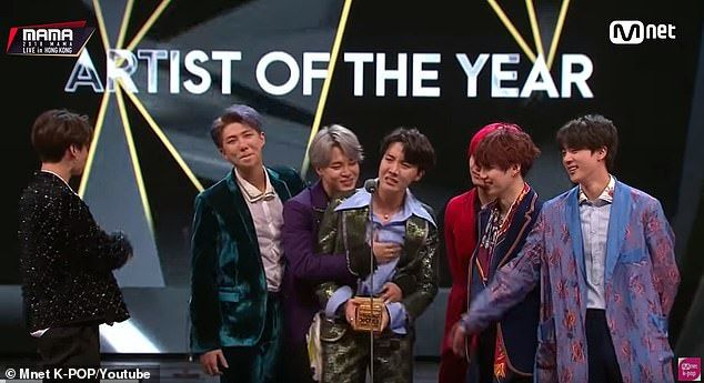 K Pop Boy Band Bts Reveal During Mama Win They Had Plans To Disband After They Suffered A Lot Bts