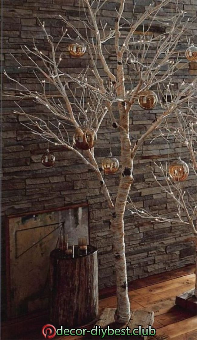 Diy Dekoration In 2020 Birch Tree Decor Christmas Birch Tree