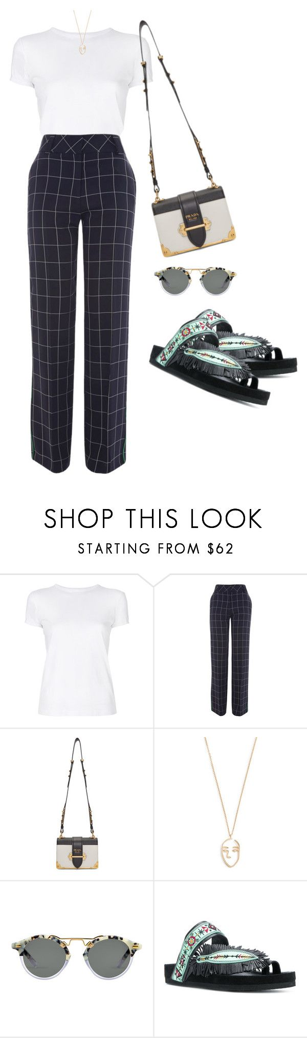 """Untitled #2552"" by shelleytrinder ❤ liked on Polyvore featuring Helmut Lang, Topshop, Prada, Amber Sceats and Isabel Marant"