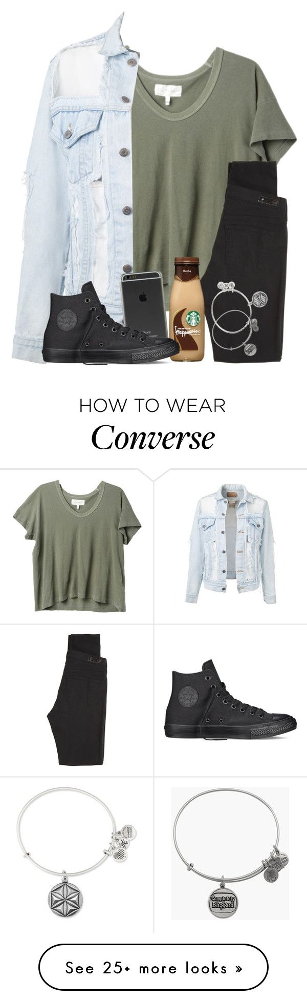 """""""Watching Sumthin, He Slowly Falling For Her Ahhjfnsokfjs"""" by twaayy on Polyvore featuring The Great, AG Adriano Goldschmied, Converse and Alex and Ani"""