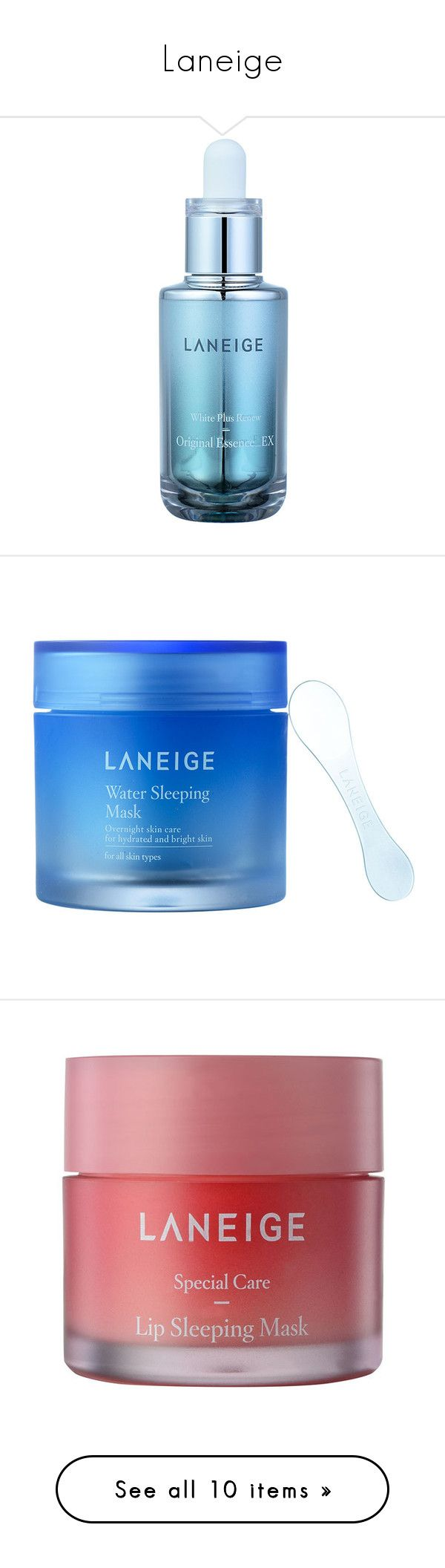 """Laneige"" by niniko-cosmetics ❤ liked on Polyvore featuring beauty products, skincare, lip care, lip treatments, exfoliating mask, laneige, hydrating mask, moisturizing mask, face care and face toners"