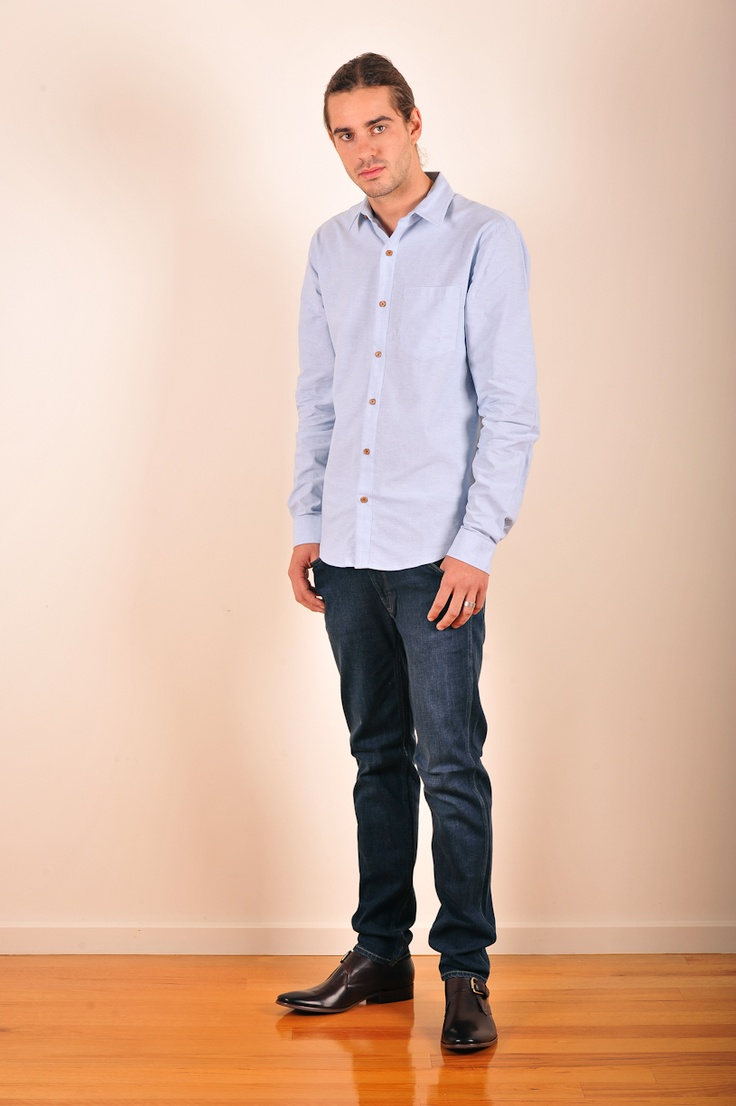 Classic chambray shirt by Mr Simple
