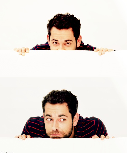 Oh my gosh I LOVE Zachary Levi. Just a little nerd, but still so cute!