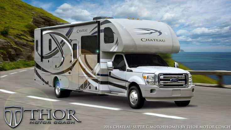 Hot New 35SK Diesel-Powered Super C Motorhomes on the Ford F-550 Chassis. Learn more about these Luxury Super C RV's on http://ThorMotorCoach.com/product-lines.php#Super+C+Motorhomes