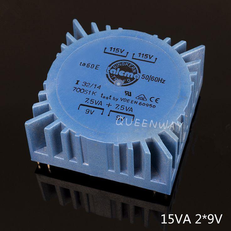 Double 9V 15W  TALEMA Square PCB Welding Plate  Sealing  Toroidal Transformer 15VA #Affiliate