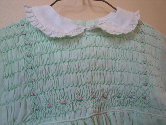 Mint Green Smocked Dress by heydarlin on Etsy, $26.00