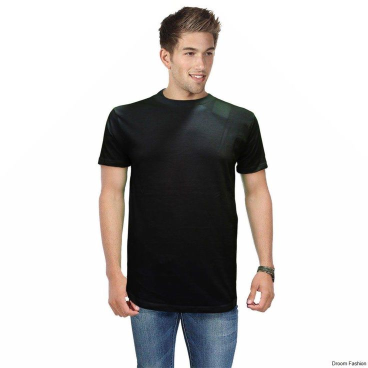 Keeping a black t-shirt wont hurt you at all. Mix and match. Plus it's styling and looking effortlessly stylish  #BlackTee #T-shirts #DroomFashion #MensWear To shop, visit us on http://www.droomfashion.com/