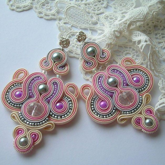 Fabric Earrings – Candy shop soutache earrings jewelry for gift – a unique product by Art_emida on DaWanda 270