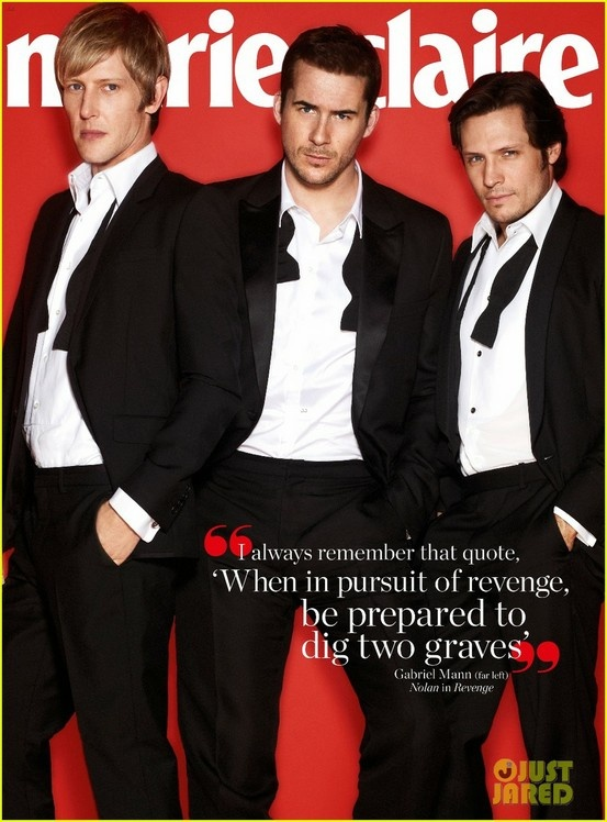 Marie Claire Australia | Revenge Cast || Gabriel Mann | Barry Sloane | Nick Wechsler