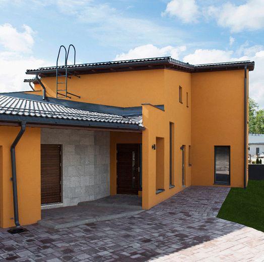 Lammi-Kivitalo Casa del Limonin muotokieleen on napattu vaikutteita meksikolaisesta arkkitehtuurista. www.lammi-kivitalot.fi