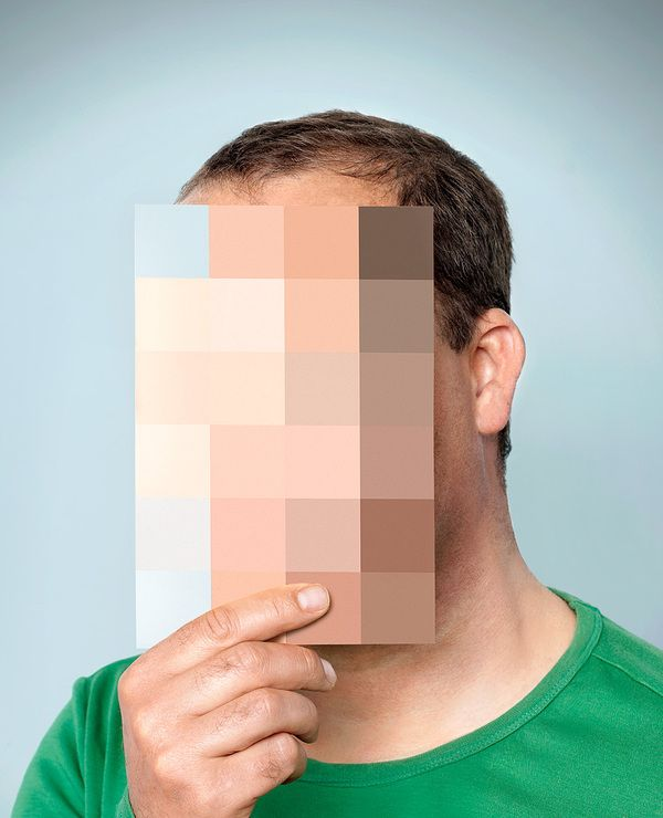 Posters by Arjan Benning, via Behance- This is really the simplest idea having an image to cover your face. This actually image of different colours similar to that of the background to make it seem blurred compliments well, gives a clever way of concealing yourself also.